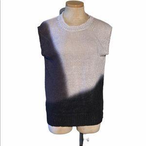 J. Crew Sleeveless Sweater Dip Dyed Linen